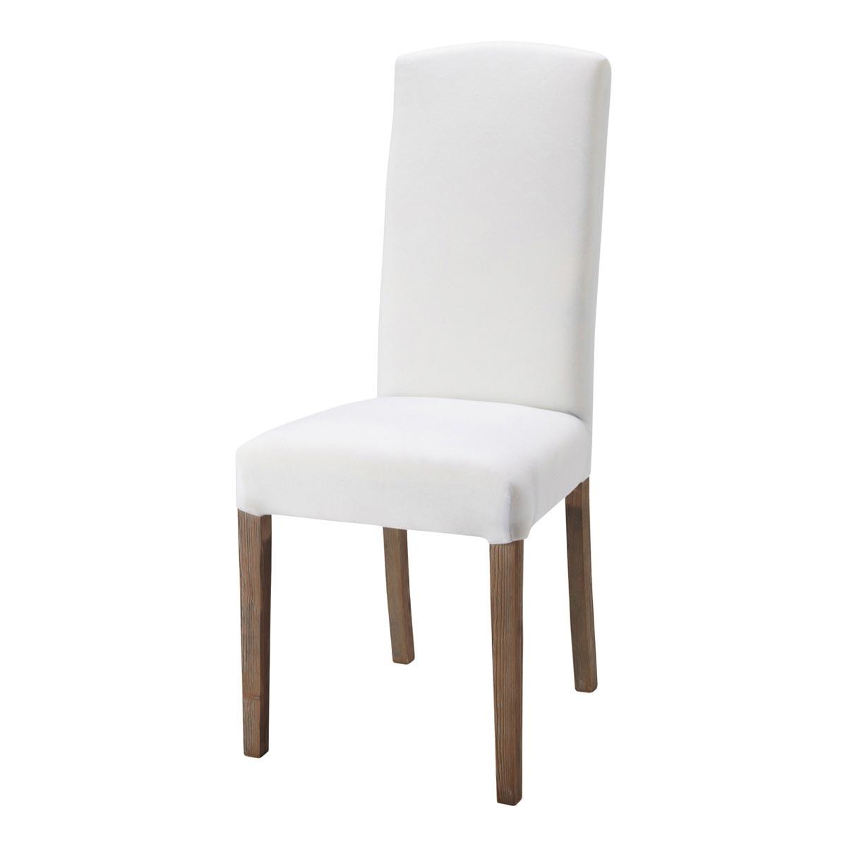 Chaise blanche en bois le monde de l a for Le monde de la chaise