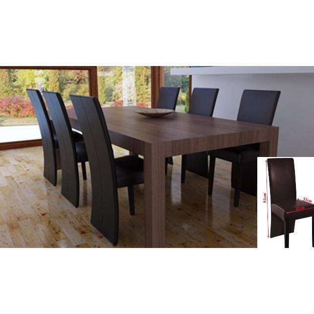 Chaise salle a manger en cuir le monde de l a for Chaise salle a manger bois et cuir
