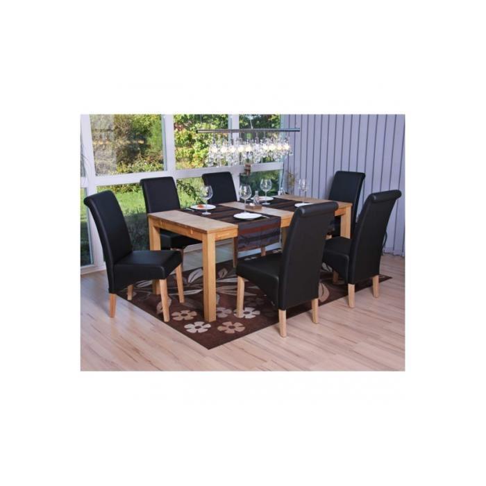 Modele de chaise de salle a manger le monde de l a for Chaise cuir noir salle manger