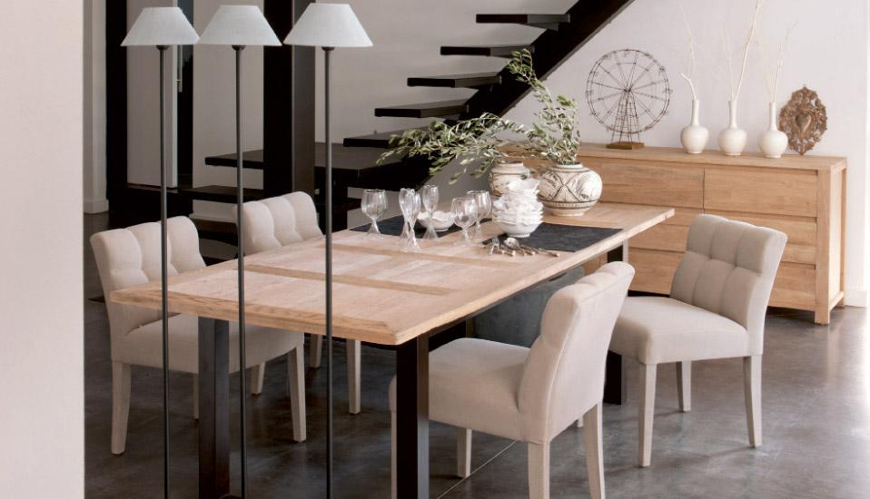 Chaise pour table a manger le monde de l a for Fauteuil pour table a manger