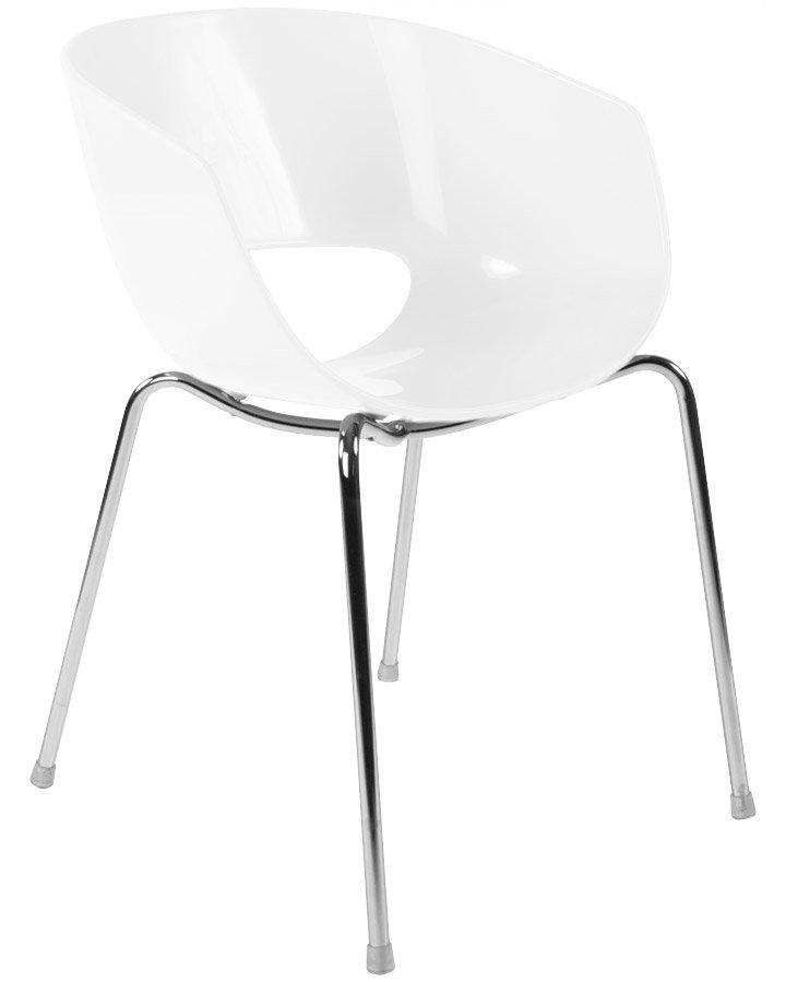 Chaises blanches modernes le monde de l a for Chaise tendance 2018