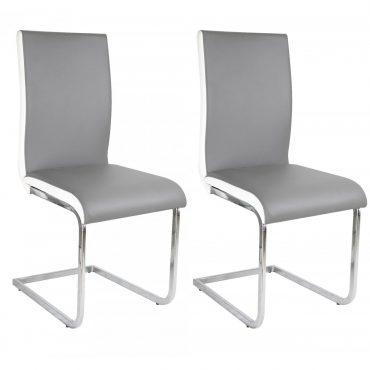 Chaise grise et blanche