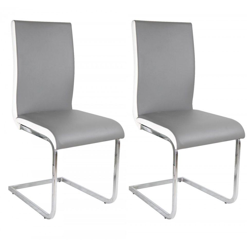 Chaise grise et blanche maison design for Chaise grise design