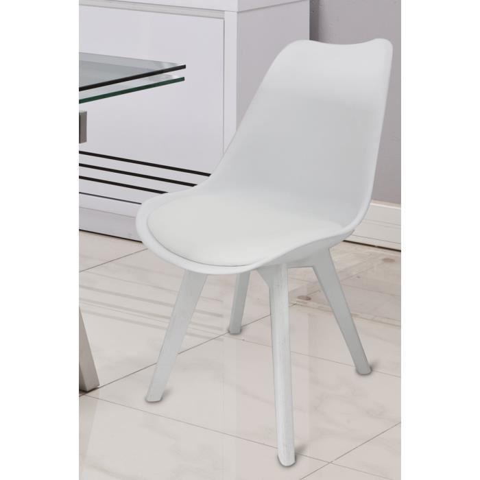 Chaises blanches salle manger le monde de l a for Chaise blanche de salle a manger