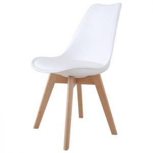 Chaise transparente pied bois le monde de l a for Chaise blanche avec pied bois
