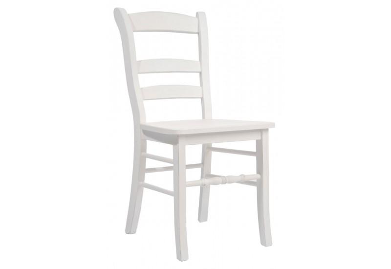 Chaise bois et blanc le monde de l a for Chaise tendance 2018