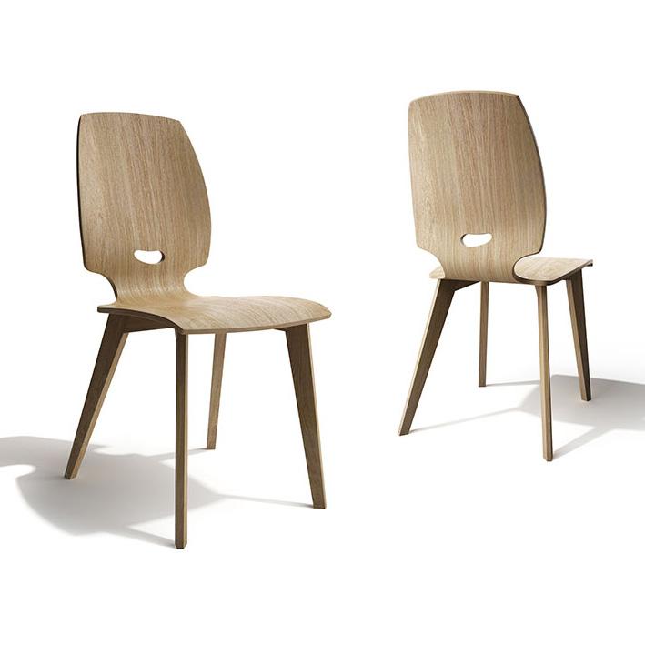 Chaises bois salle manger le monde de l a for Tendance chaise 2017