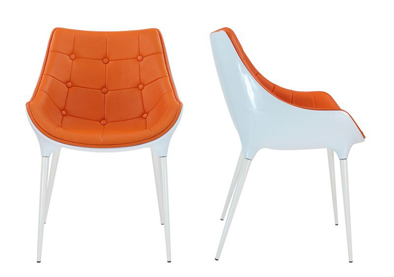 Chaise orange le monde de l a - Chaise design plastique ...