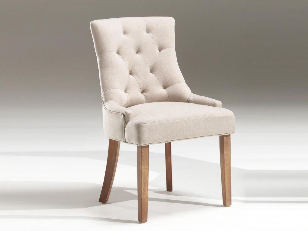 Chaise salle a manger tissu - Le monde de Léa