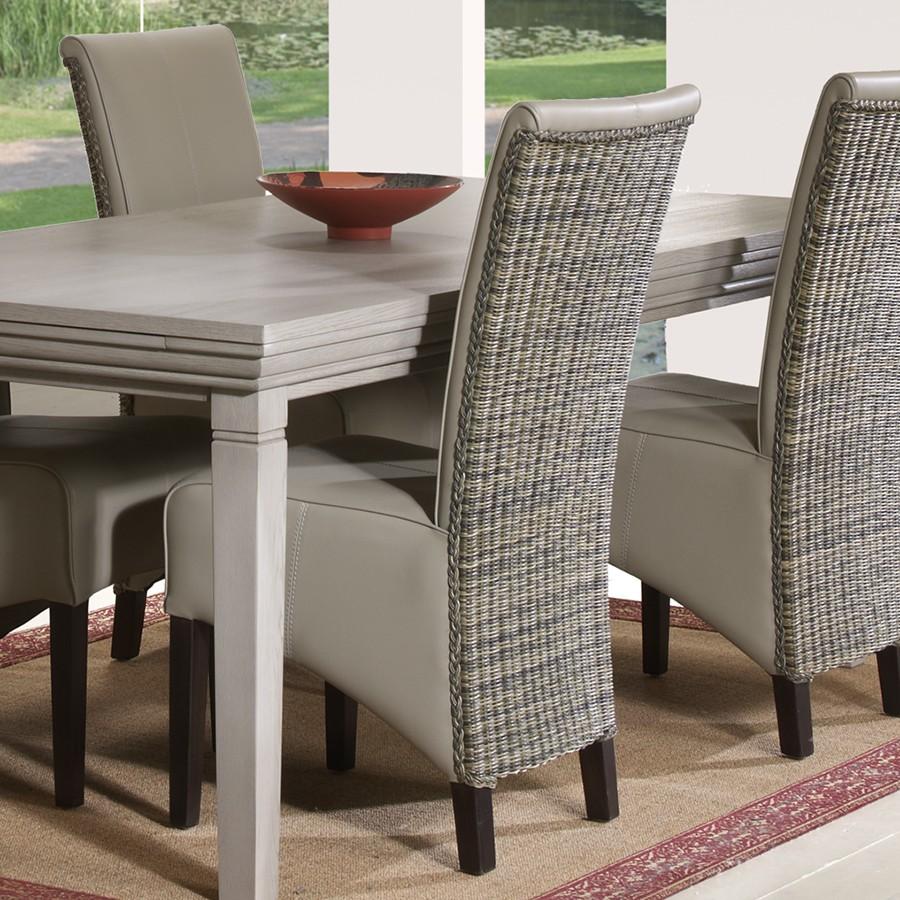 chaise contemporaine cuir salle manger le monde de l a. Black Bedroom Furniture Sets. Home Design Ideas