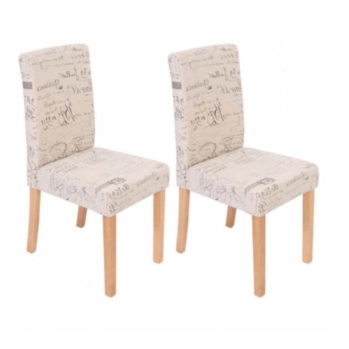 Chaise salle a manger tissu le monde de l a - Chaise tissu salle a manger ...