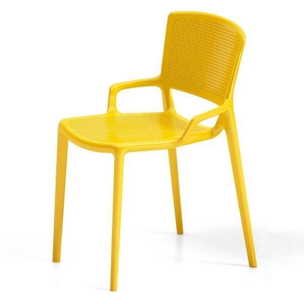 Fauteuil design jaune le monde de l a for Chaise jaune design