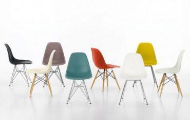 Chaise design colorée