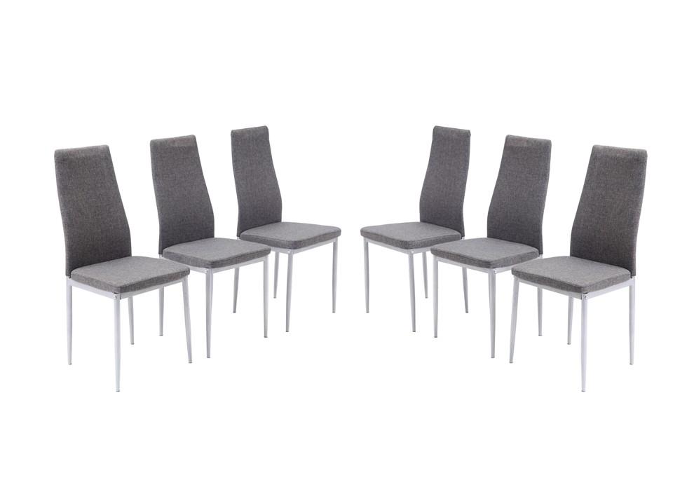 Chaise grise salle a manger pas cher le monde de l a for Table 6 chaises pas cher