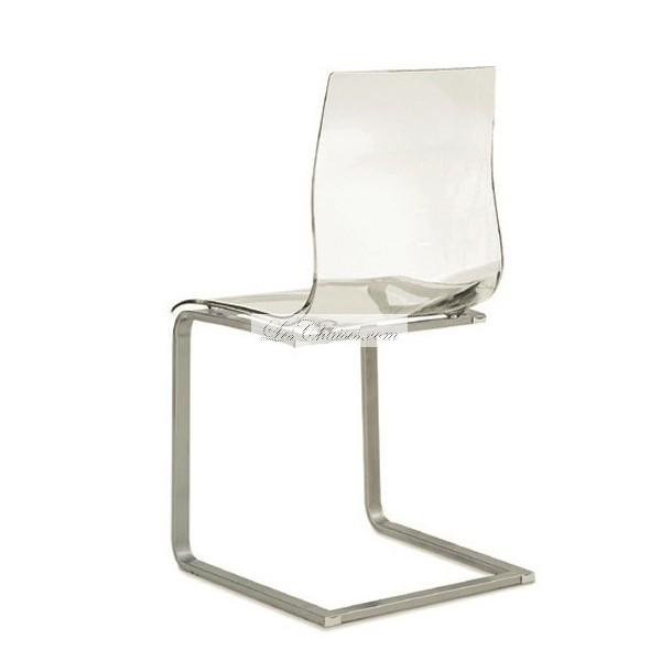 chaise haute transparente le monde de l a. Black Bedroom Furniture Sets. Home Design Ideas
