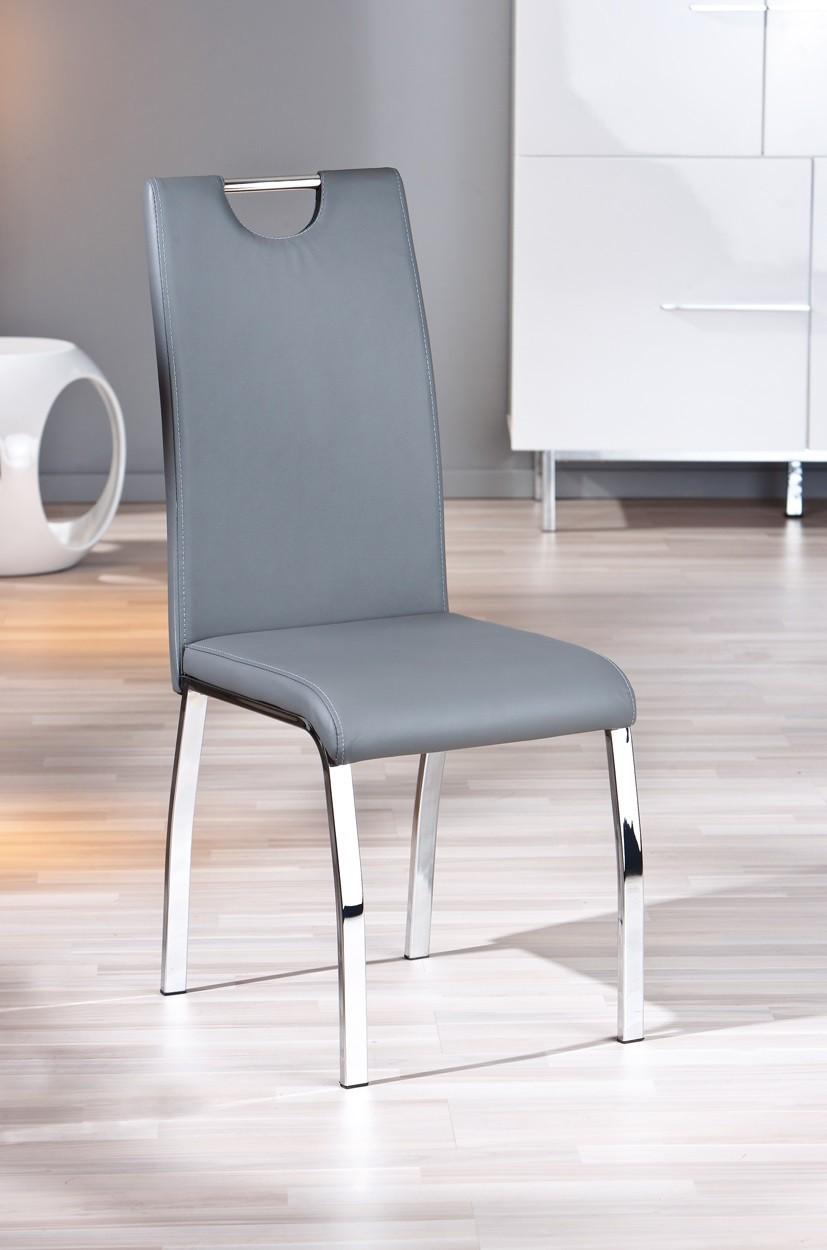 chaise salle a manger grise le monde de l a. Black Bedroom Furniture Sets. Home Design Ideas