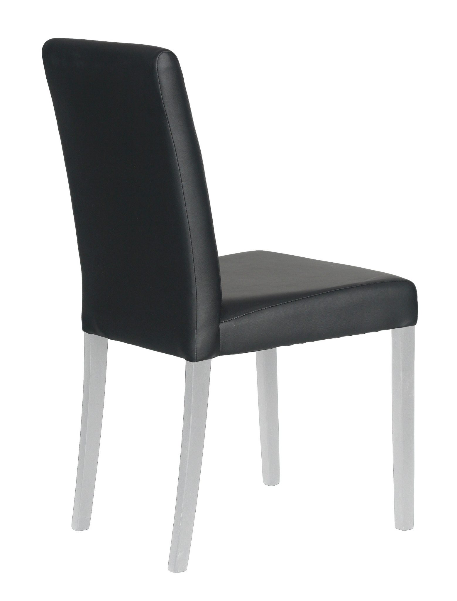 chaise salle a manger cuir noir le monde de l a. Black Bedroom Furniture Sets. Home Design Ideas