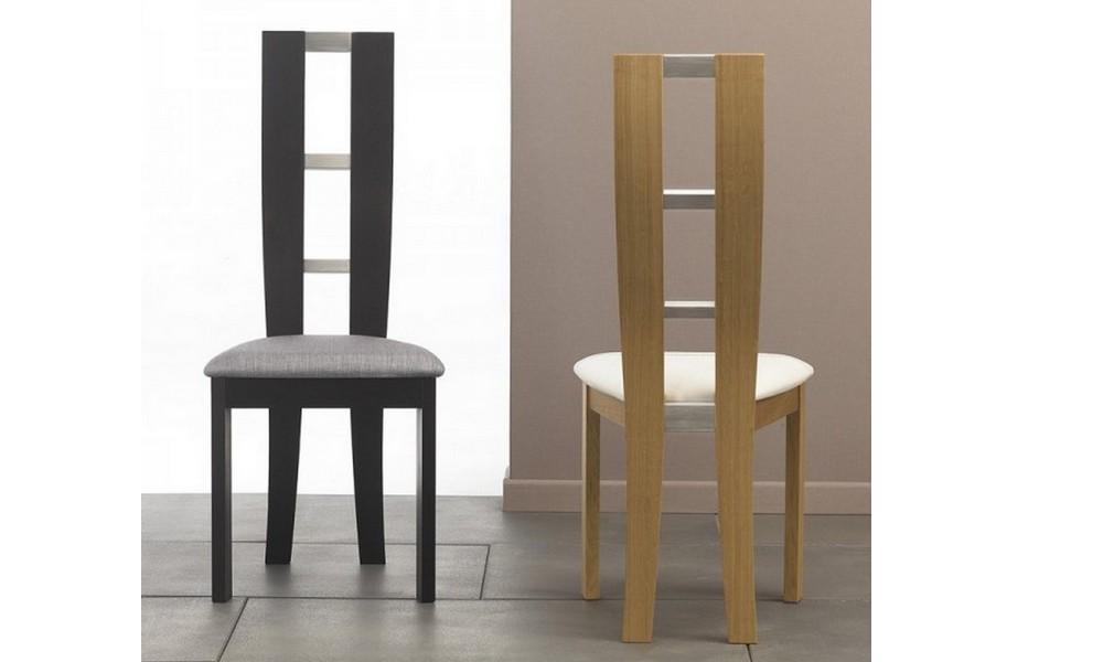 Modele chaise en bois le monde de l a for Chaise bois et blanc