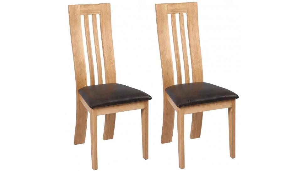 Chaise en chene le monde de l a for Chaise de salle a manger en chene massif recouvert de tissu