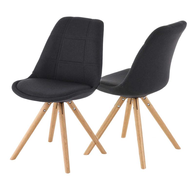chaise design gris anthracite le monde de l a. Black Bedroom Furniture Sets. Home Design Ideas