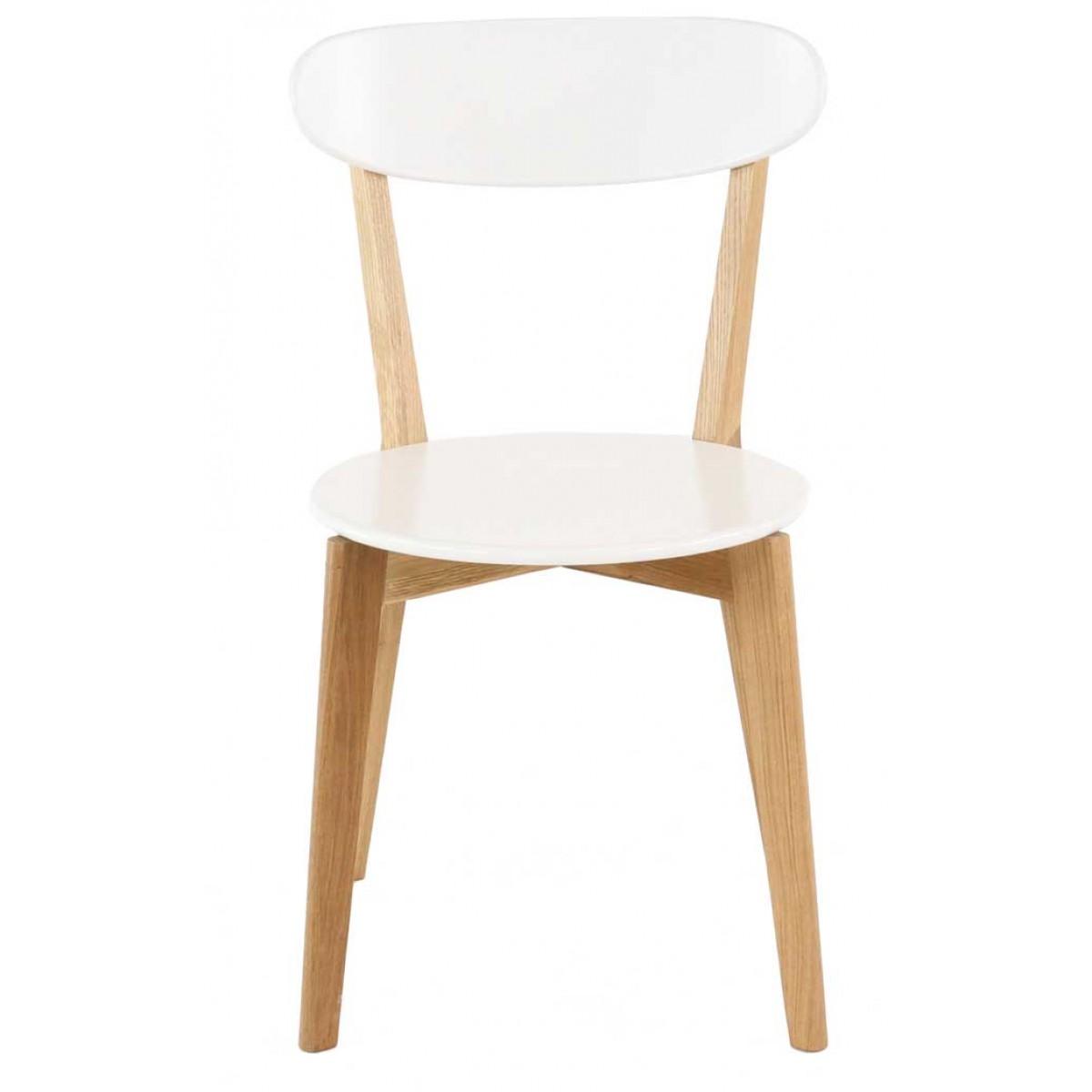 chaise blanche le monde de l a. Black Bedroom Furniture Sets. Home Design Ideas