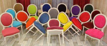 Chaise médaillon moderne