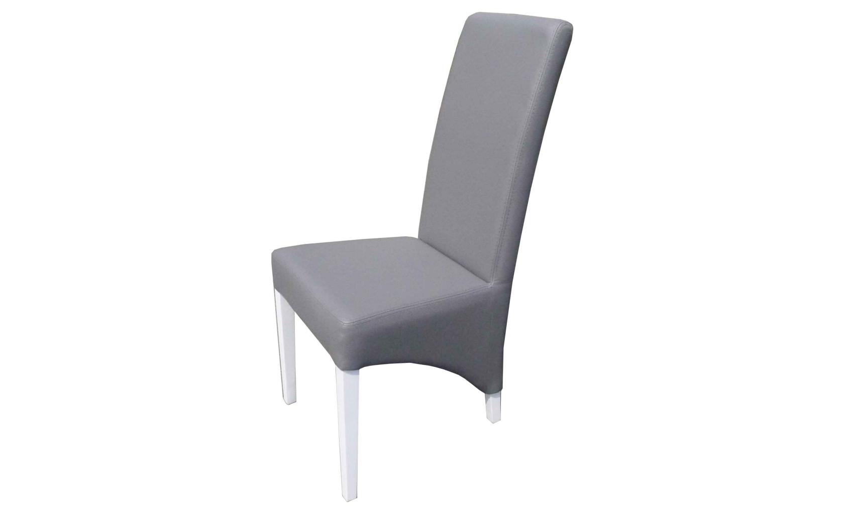 Chaise grise salle a manger le monde de l a - Salle a manger grise et blanche ...