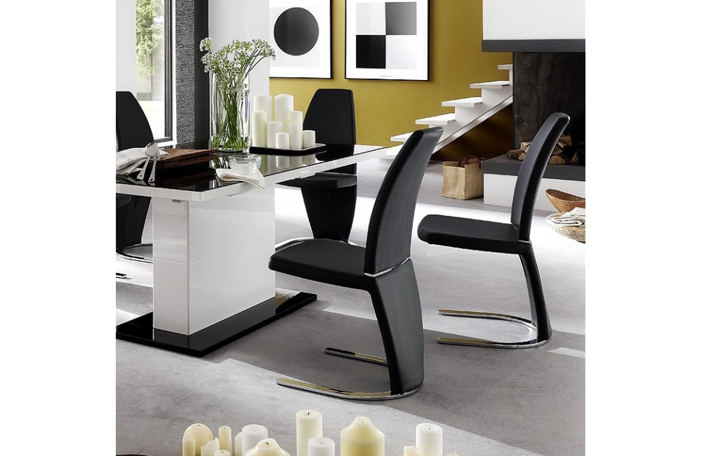 Table chaise moderne le monde de l a for Table salle a manger moderne design
