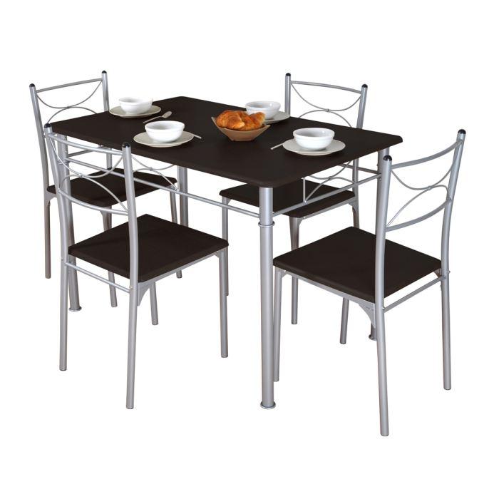 Chaise cuisine grise le monde de l a for Table et chaise de cuisine pas cher