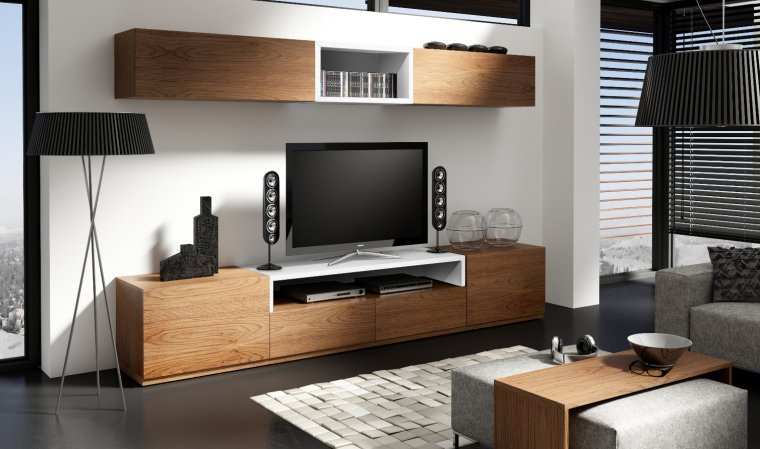 meuble sejour contemporain le monde de l a. Black Bedroom Furniture Sets. Home Design Ideas