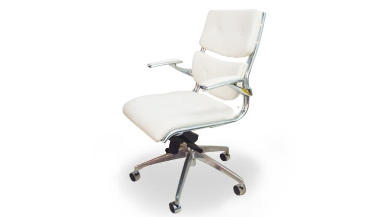 Chaise de bureau design blanc le monde de l a - Fauteuil de bureau blanc pas cher ...