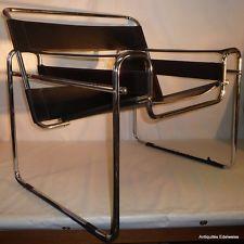 Chaise design cuir metal Le monde de Léa
