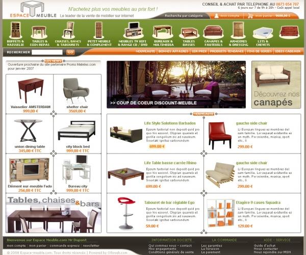 site vente de meuble le monde de l a. Black Bedroom Furniture Sets. Home Design Ideas