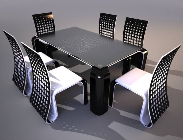 Table chaise design le monde de l a for Chaise de table design