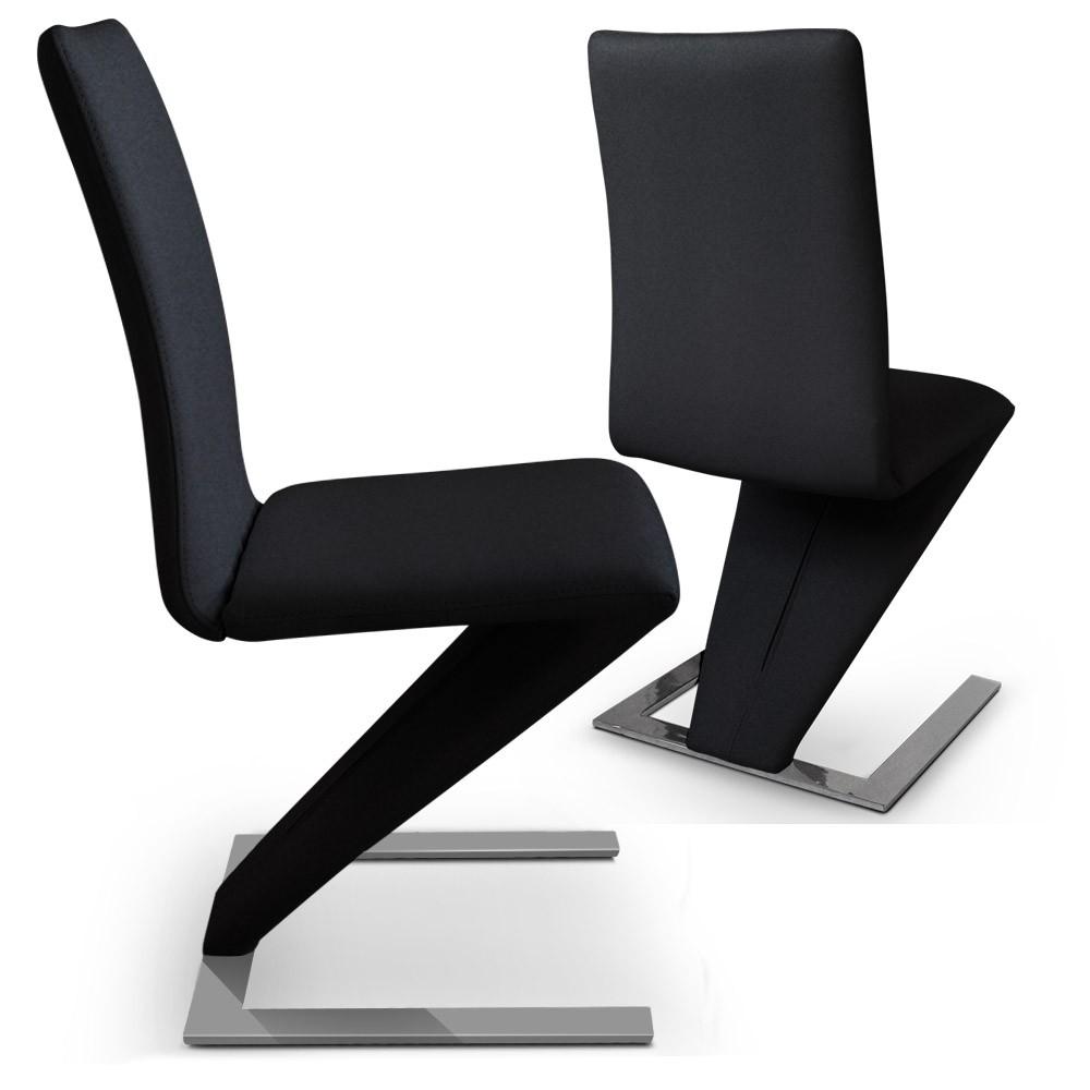 Chaise moderne noir le monde de l a for Chaise tendance 2018