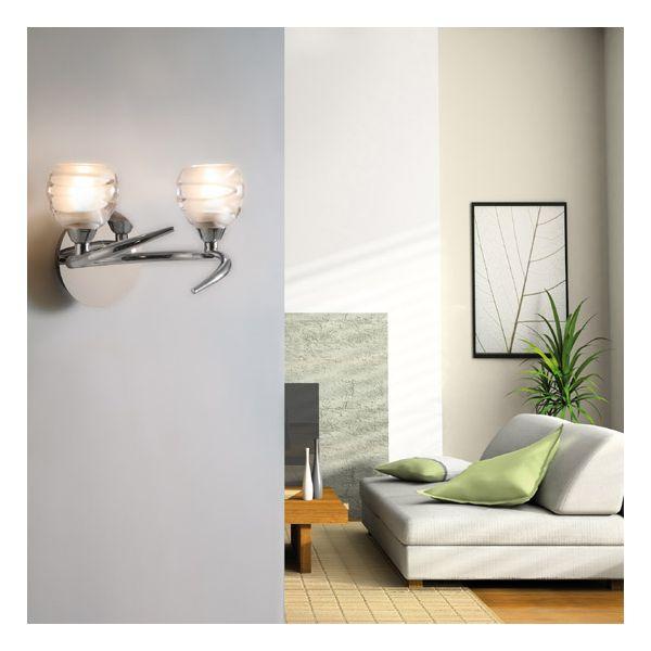 applique murale 2 lampes le monde de l a. Black Bedroom Furniture Sets. Home Design Ideas