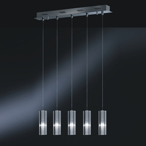 Lustre suspension moderne le monde de l a for Luminaire suspendu moderne