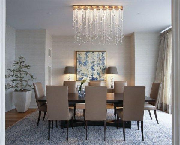 Lustre contemporain salle manger - Le monde de Léa