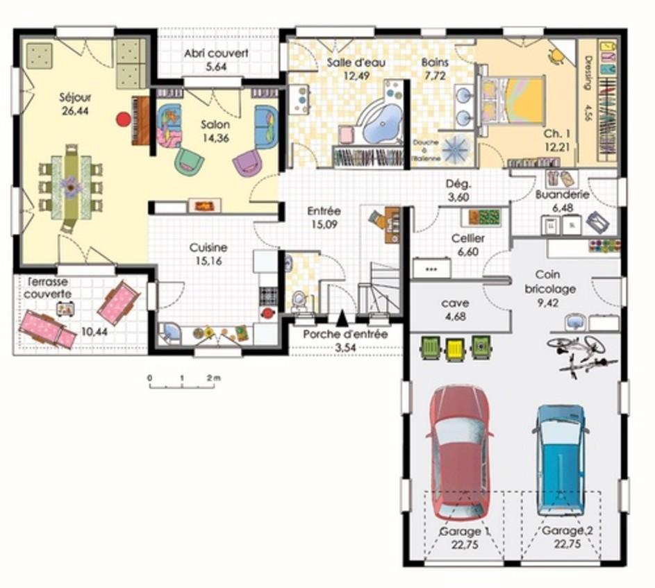 plan de maison italienne