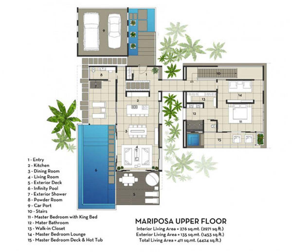 Villa moderne plan le monde de l a for 1950s minimalist house