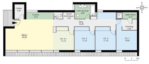 excellent cool maison plain pied cubique with plan de maison chambres plain pied gratuit with plan de maison en bois plein pied gratuit
