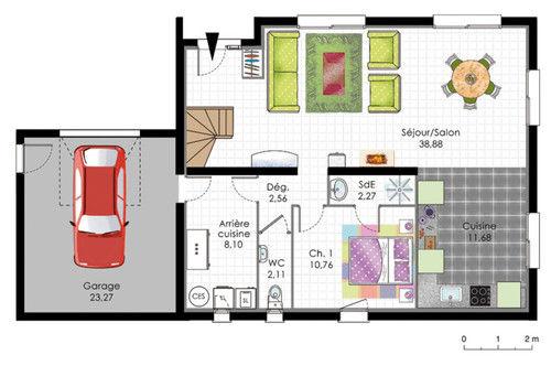 plan d une maison moderne le monde de l a. Black Bedroom Furniture Sets. Home Design Ideas
