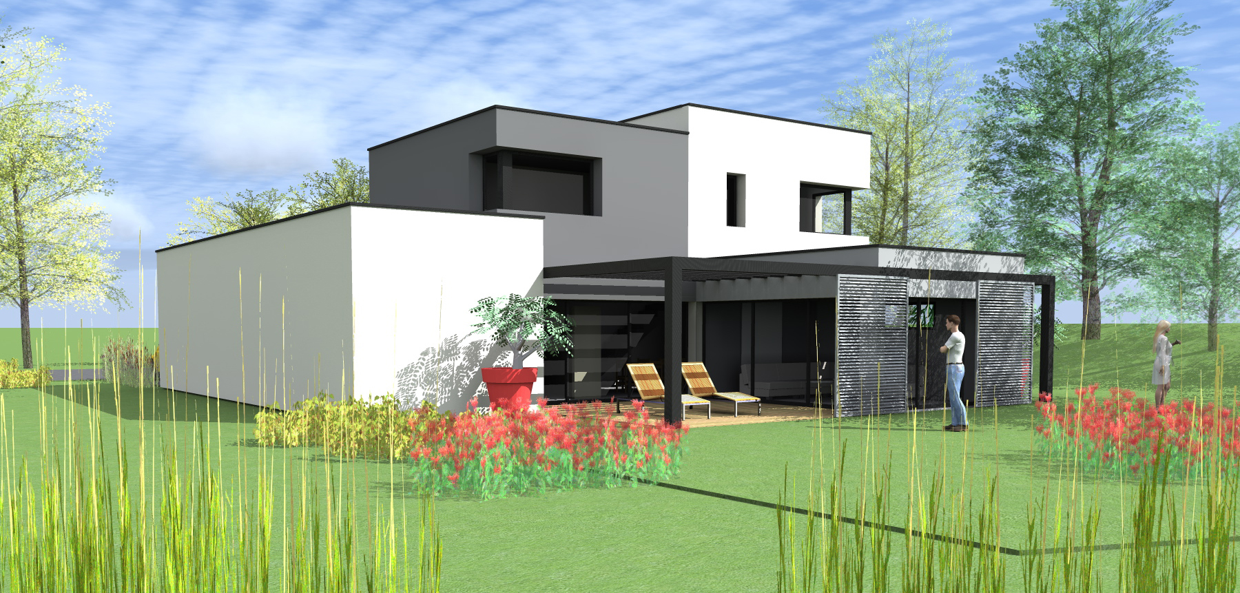 Projet maison moderne le monde de l a for Projet maison contemporaine