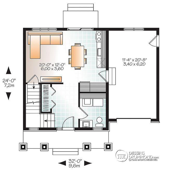 Plan petite maison moderne le monde de l a for Plan petite maison moderne