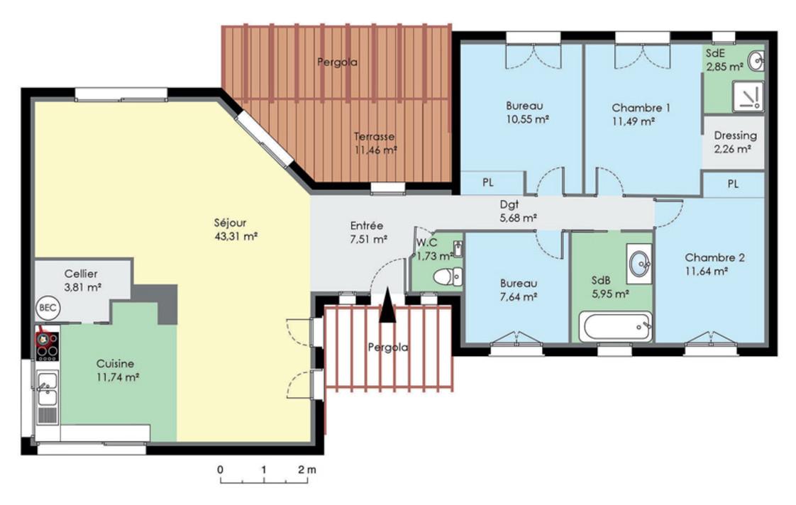 Exemple Maison Plain Pied Moderne Le Monde De Lea