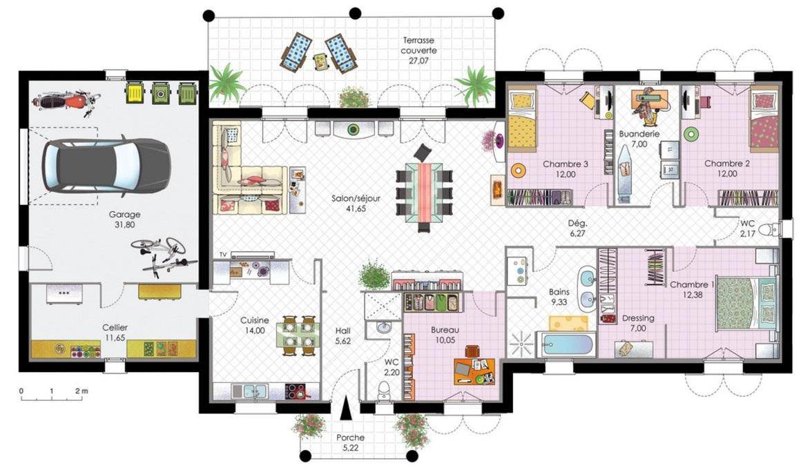 Plans villas contemporaines le monde de l a for Les plans des villas modernes
