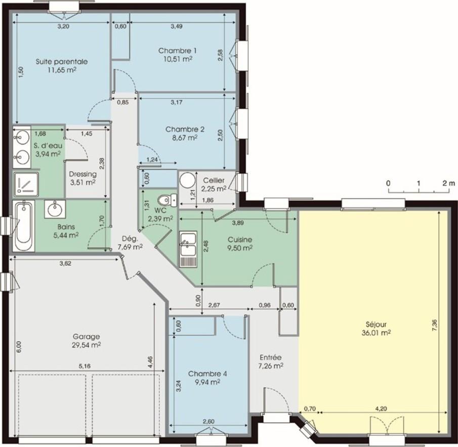 plan maison plein pied gratuit - Plan Maison Plein Pied Gratuit