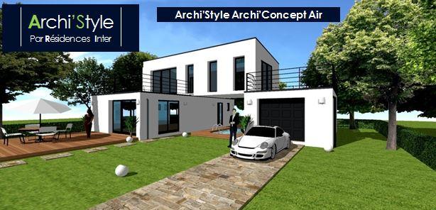 Maison moderne sans toit - Le monde de Léa