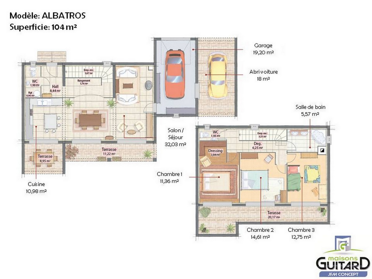 Plan de maison contemporaine toit plat le monde de l a for Plan maison contemporaine toit plat