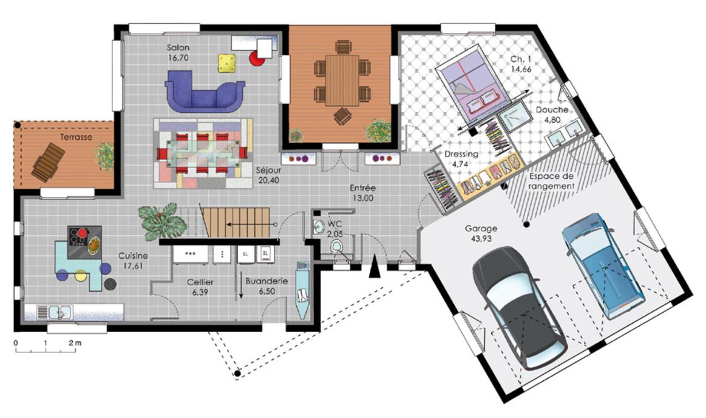 Plan De Maison Moderne Gratuit Le Monde De L 233 A